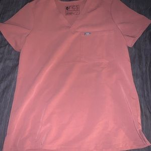 Figs mauve scrub top S